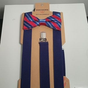 Men's Bow Tie and Suspender Set NWT